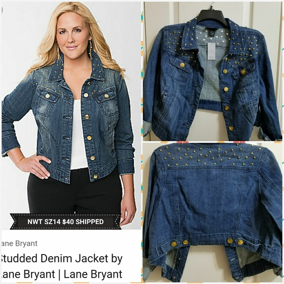 9194a332055 Lane Bryant Studded Denim Jacket
